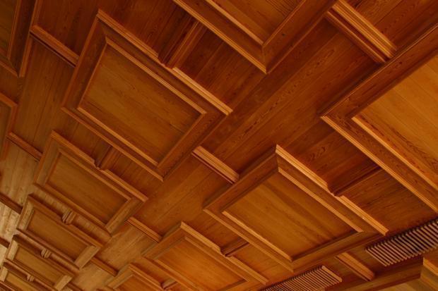 Boiserie a soffitto