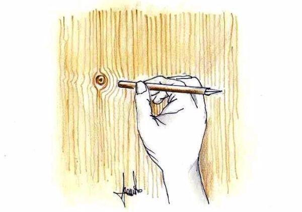 Nodi delle venature effetto legno: come si realizzano in fai da te