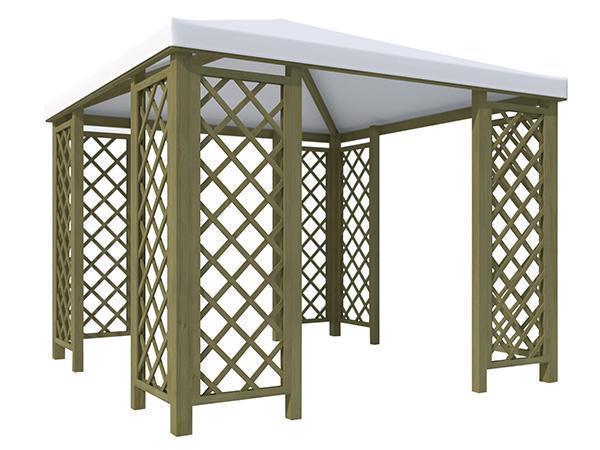 Gazebo in legno modelli caratteristiche e normative for Leroy merlin gazebo giardino in legno