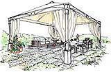 Progetto di gazebo in ferro dell'interior desgner Antonio Previato