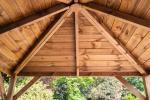 Gazebo in legno soffitto