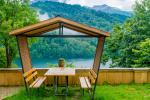 Gazebo in legno lago