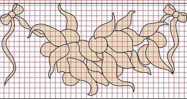 Disegno quadrettato per realizzare decorazioni in fai da te