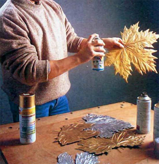 Doratura delle foglie per il quadro fai da te