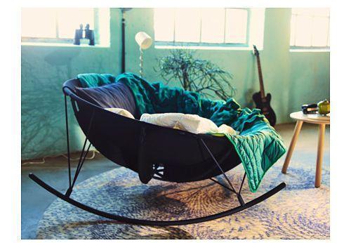 Poltrona a dondolo di design di Ikea