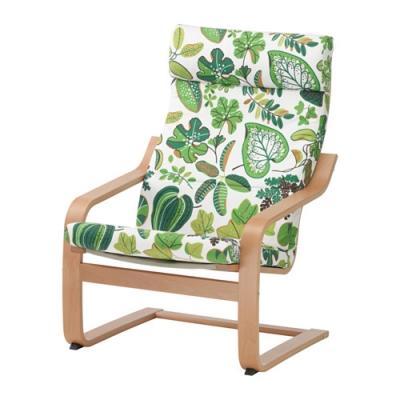 Poltrona Poang in fantasia sul verde di Ikea