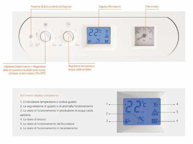 Comandi intuitivi caldaia a gas a condesazione di Enerkal