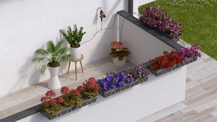 Irrigazione a goccia terrazzo