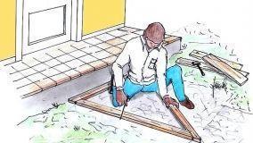 Tecniche e illustrazioni per costruire un gradino di cemento col fai da te