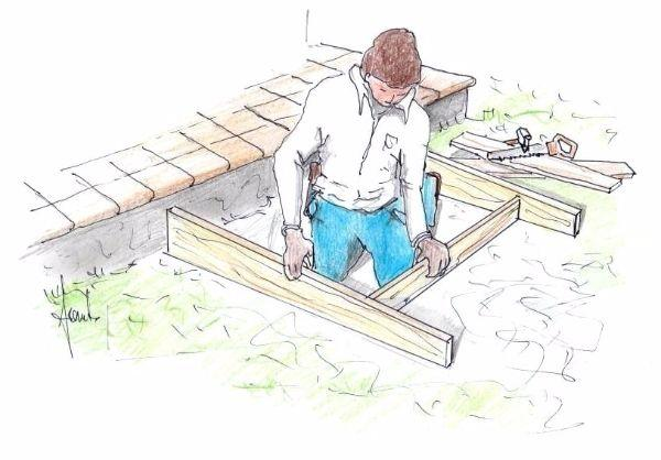 Costruire gradino in cemento: preparazione cassaforma