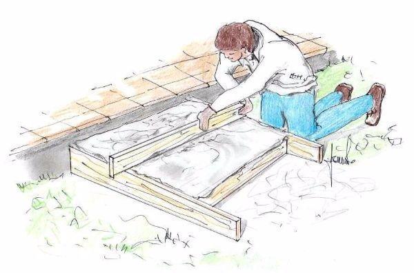 Costruzione gradino in fai da te: livellamento del cemento