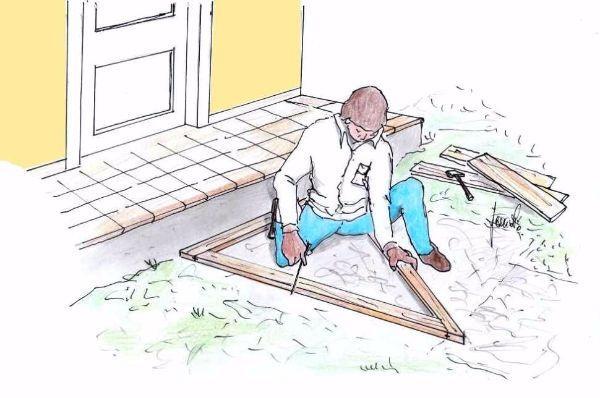 Costruire un gradino in cemento in fai date: rilievo misure