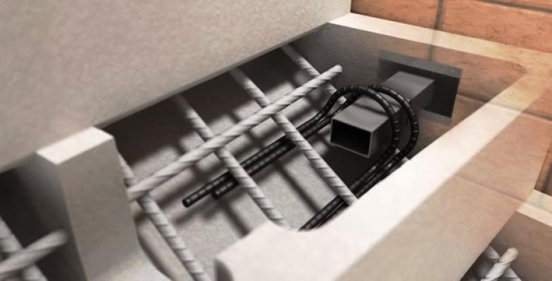 Cassero prefabbricato Scawo® per gradino in cemento, produzione Metallconcept
