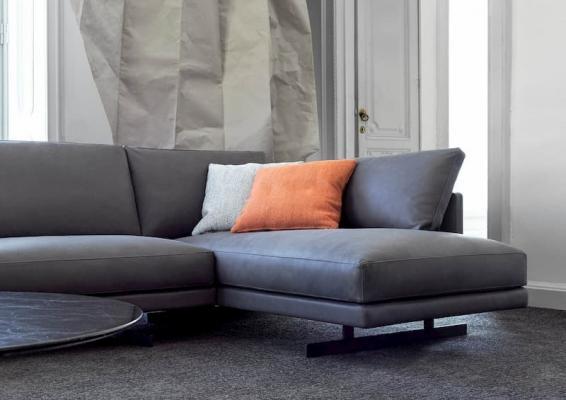 Dettaglio divano componibile in tessuto