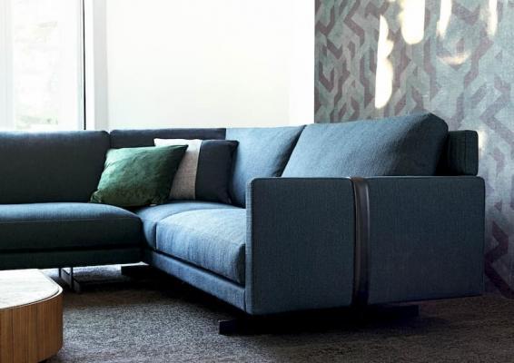 Dettaglio tessuto divani componibili BertO