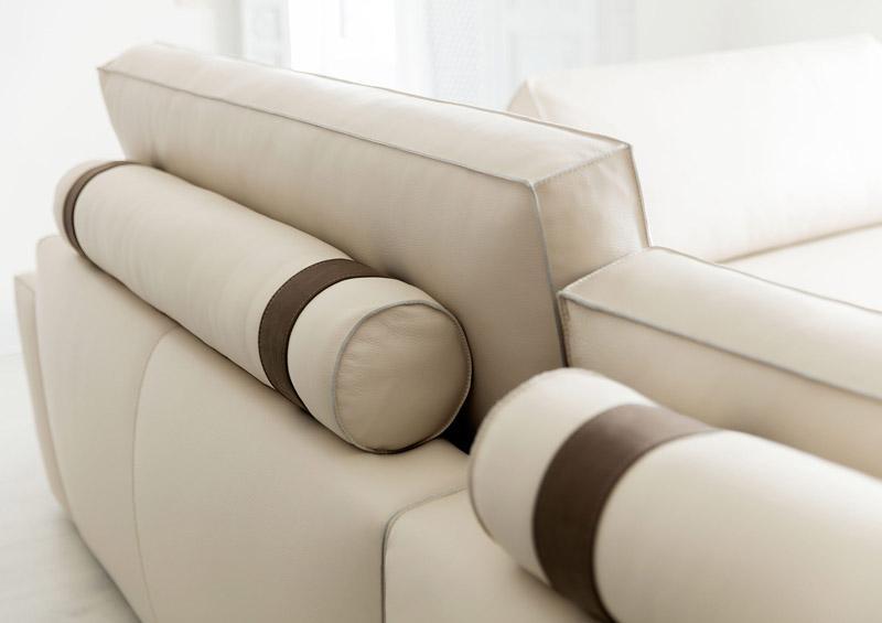 Divano penisola pelle - migliori divani di BertO
