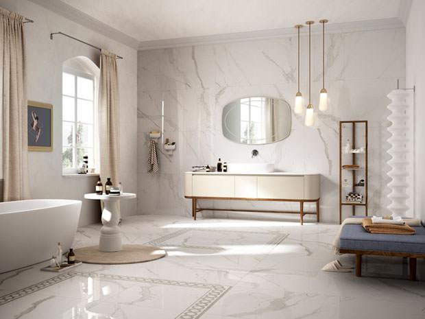 Piastrelle in gres effetto marmo linea Prestigio di Refin