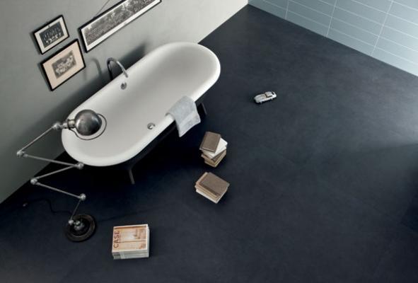 Pavimento bagno con mattonelle Lea Ceramiche linea Deep Sea