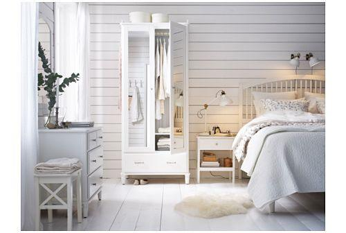 Struttura letto bianca Tyssedal di Ikea