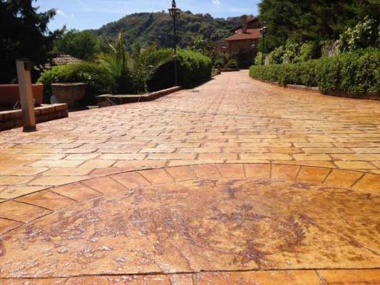 Calcestruzzo Stampato Palermo : Pavimenti per esterno in cemento stampato pavimento basso
