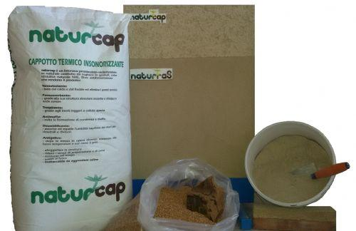 Intonaco deumidificante a base di sughero Naturcap