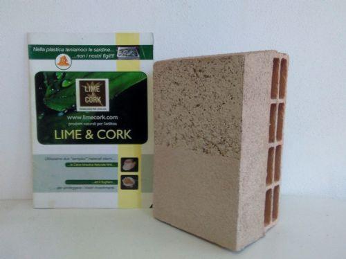 Intonaco deumidificante a base di sughero Naturcap, Lime & Cork