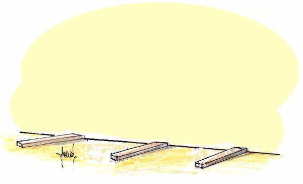 Fissaggio travetti a terra, di supporto alla scaffalatura