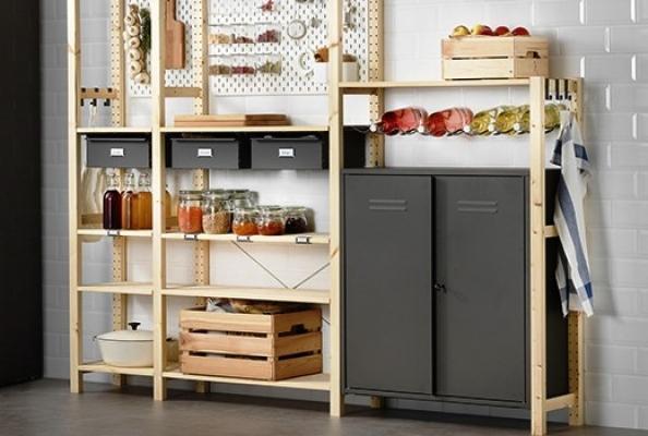 Scaffalatura multifunzione in legno, by Ikea
