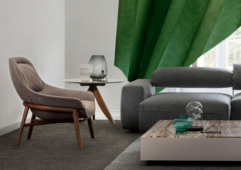 Poltrone e divani BertO per salotti componibili