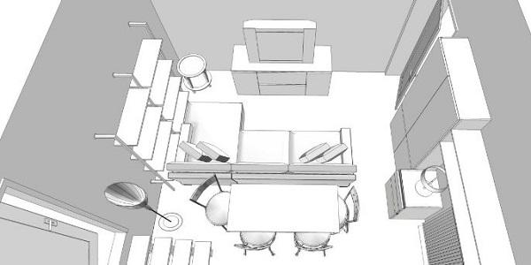 Rinnovare il soggiorno: idea progettuale