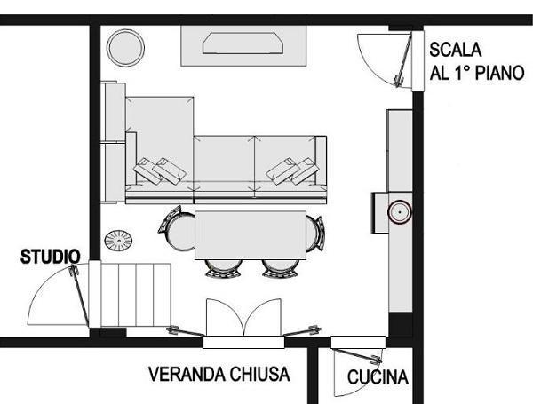 Progetto di relooking del soggiorno