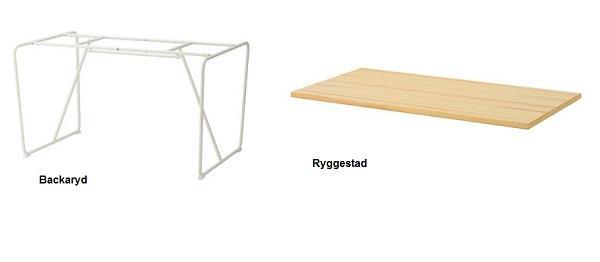 Rinnovare il soggiorno di casa: Ikea, base Backaryd e piano Ryggestad
