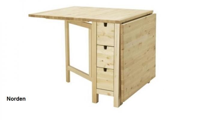 Ikea, tavolo a ribalta Norden per rinnovare il soggiorno