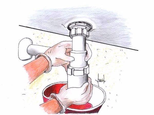 Smontare un sifone a bottiglia per la pulizia