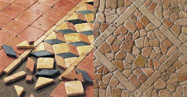 Pavimenti intarsiati de I Ciottoli di Marmo