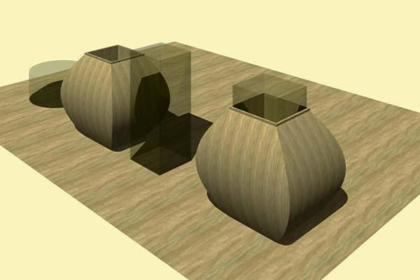 Un'idea progettuale da realizzare con i rivestimenti caudex