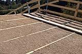 Costruzione di un tetto impiego massetto con canapa