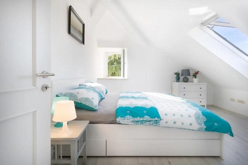 Recupero sottotetto - camera da letto in mansarda