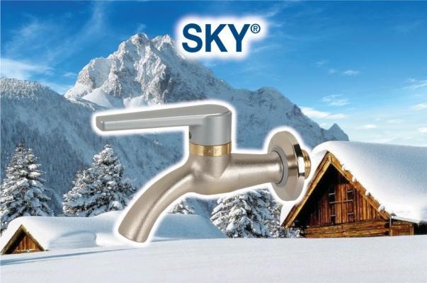 Sky di Effebi: rubinetto da esterno antigoccia e antigelo