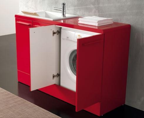 Compact di Geromin: un arredo lavanderia minimal, per piccoli spazi