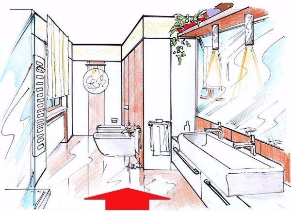 Progettare un bagno - Piatto doccia triangolare ...