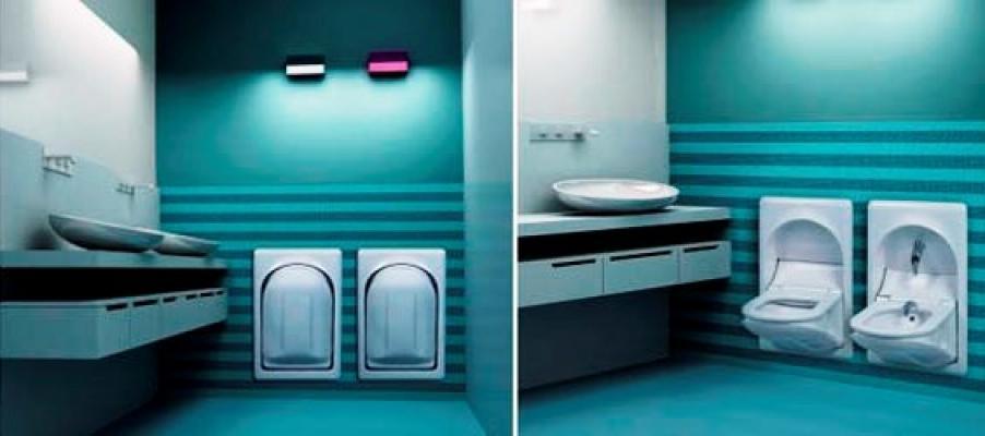 Seaeagle bagno: sanitari a scomparsa nel muro