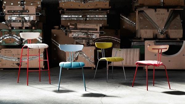 Sedie da cucina colorate per ambienti giovani: collezione Amy di Laco