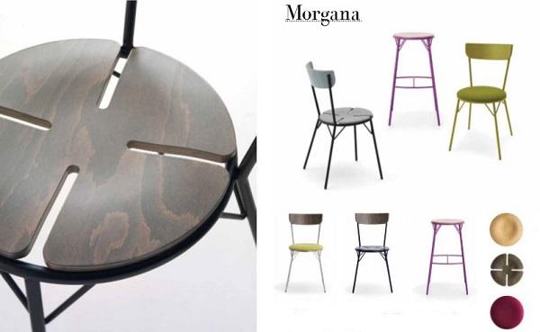 Morgana è la sedia da cucina trasformista di Laco