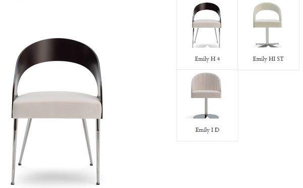 Cambia sedia in cucina cambiando schienale: Emily di Laco