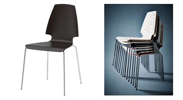 Comode in cucina le sedie low cost impilabili Vilmar di Ikea