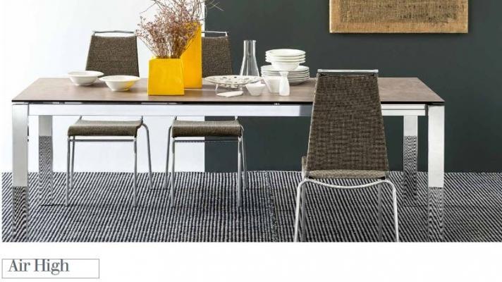 Più comodi con lo schienale alto di Air High, la sedia da cucina di Connubia by Calligaris