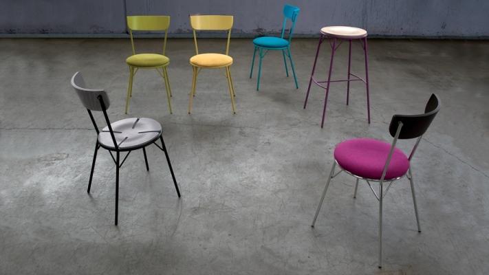 Arredo colorato con le sedie Morgana per la cucina giovane di Laco
