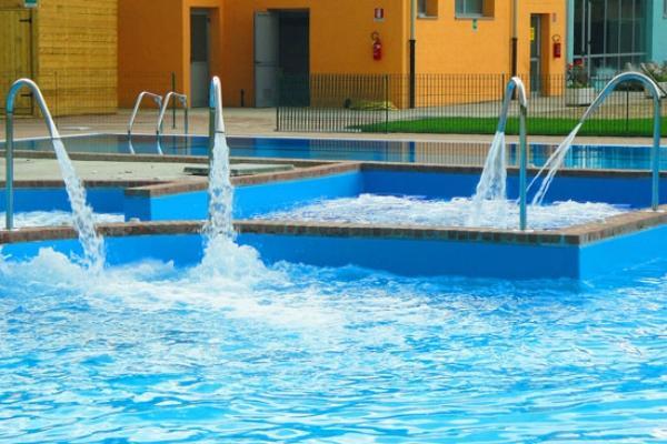 Cascata per piscina Blu