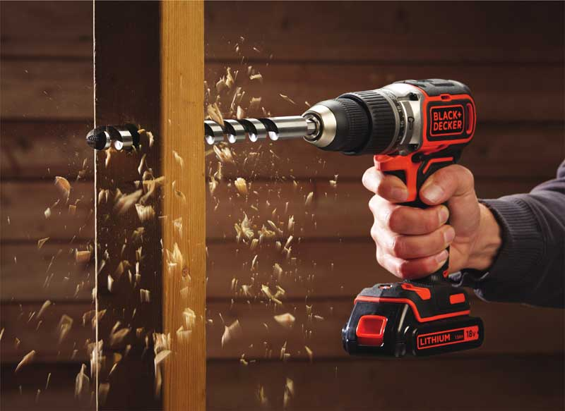 Trapano professionale BLACK+DECKER con batteria al litio